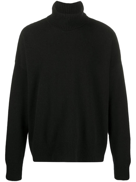 CASHMERE TURTLENECK OVERSIZE SWEATER BLK