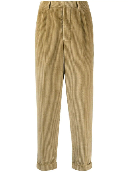 PLEATED CARROT FIT TROUSERS BEG