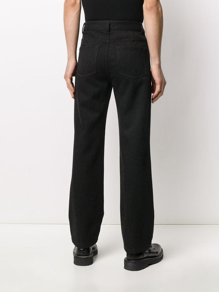 STRAIGHT FIT RIBBED TROUSERS GRY