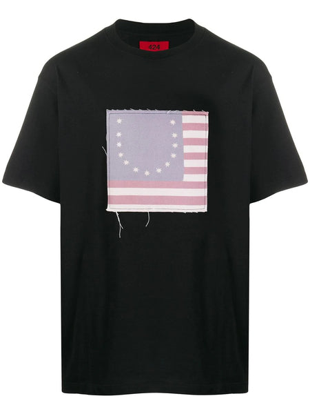 SMILEY FLAG PATCH T-SHIRT