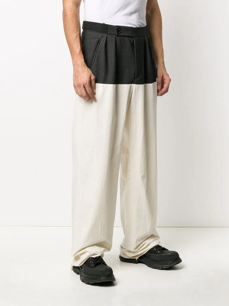 WIDE FIT PANTS WITH HORIZONTAL CUT W
