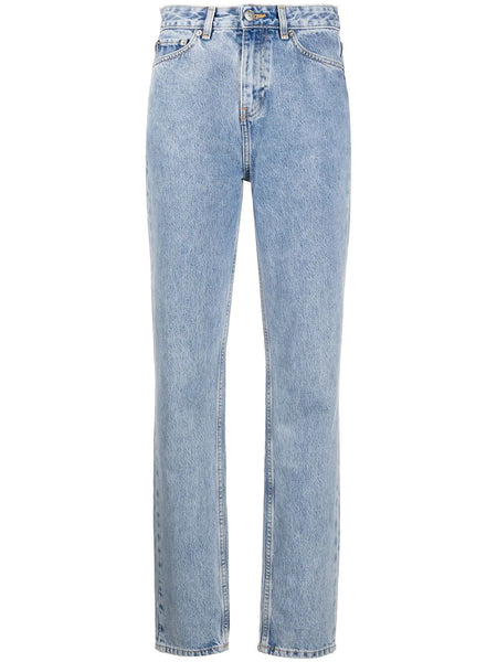 WASHED STRAIGHT LEG JEANS