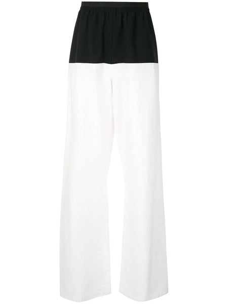WIDE FIT PANTS WITH HORIZONTAL CUT B