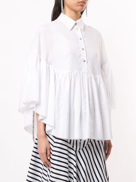 FRIL CAPE TENCEL SHIRTING