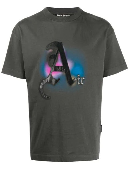 AIR PRINTED TEE GARMENT DYE BLK