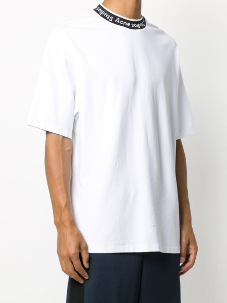 LOGO EXTORR STAMPED NECK T-SHIRT WHT