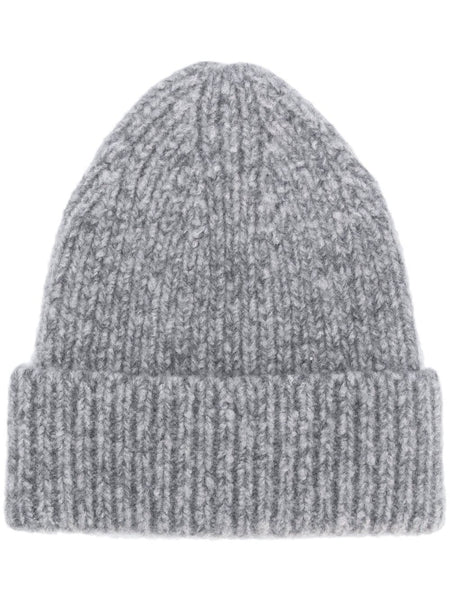 CHUNKY CABELO RIBBED CASHMIX BEANIE