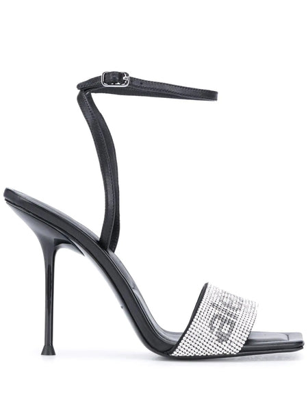 JULIE ANKLE STRAP CLEAR CRYSTAL