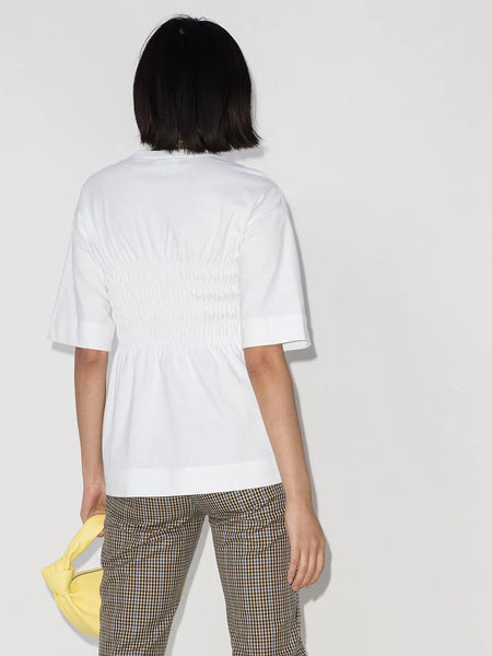 SMOCKED BASIC JERSEY T-SHIRT