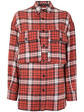 FLAP POCKET PLAID LONG SLEEVE SHIRT