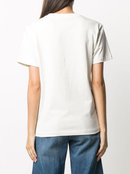 FOUNDATION JERSET S/S TEE PAINTED AW LOGO WT 100WHT