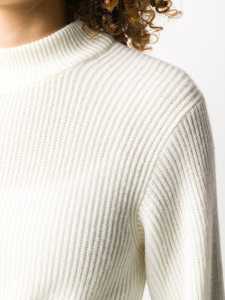 ELONGATED SLEEVED RIBBED JUMPER