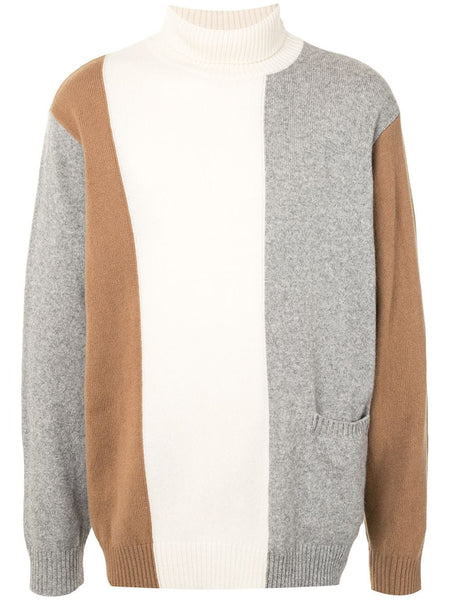 CONTRAST PANEL KNIT JUMPER