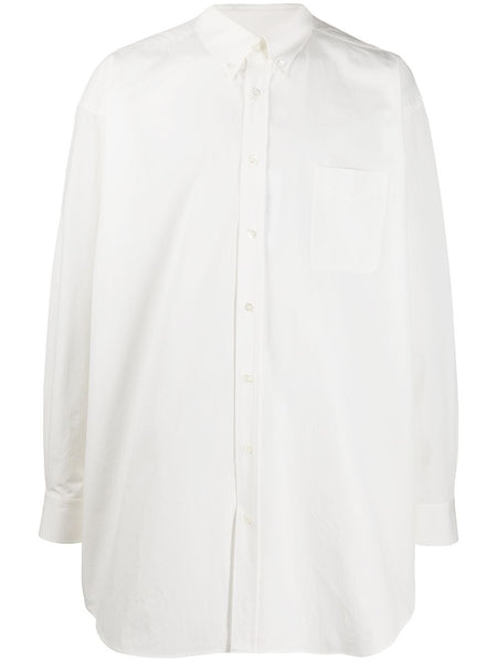 OVERSIZED COTTON LONG SHIRT WHT