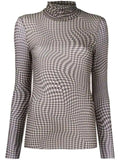HOUNDSTOOTH SHEER TOP