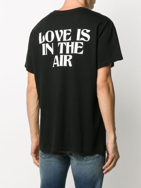 AIRLINES LOGO PRINT T-SHIRT BLK