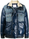 PANELLED PADDED DENIM JACKET