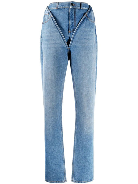 V TAILORED CUT JEANS ICE