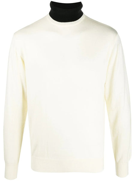 FINE KNIT NEW HIGH NECK JUMPER WHT