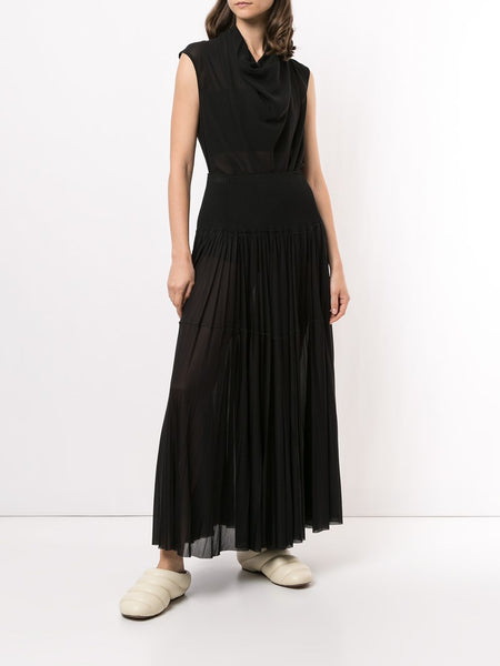 GUAZY PLEATED MAXI SKIRT