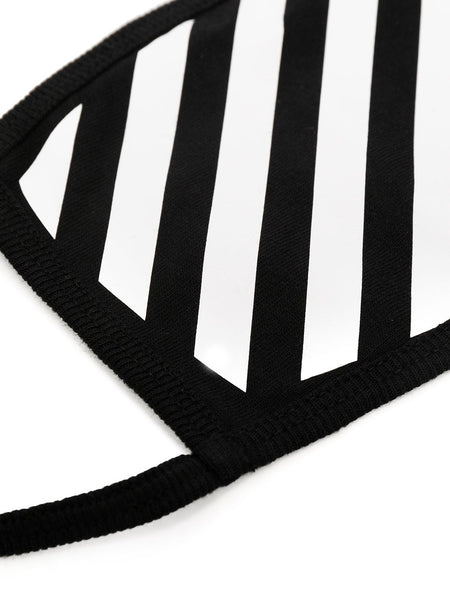 DIAG STRIPE FACE MASK BLK WHT