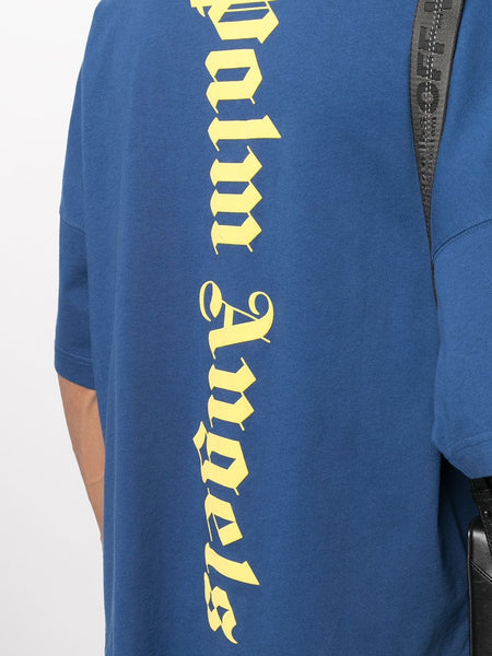 NS LOGO PRINTED OVER TEE NVY BLU