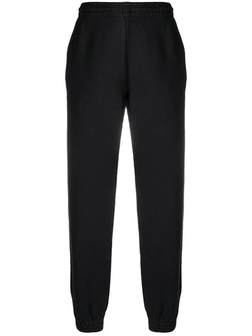 DIAGONAL STRIP TRACK PANTS BLK