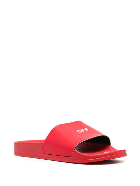 POOL ARROWS LOGO PRINTED SLIDER RED WHT