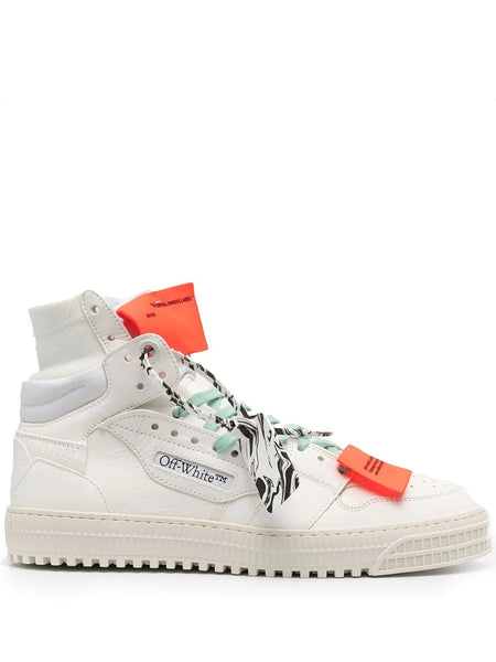 OFF-WHITE COURT HIGH-TOP SNEAKERS WHT VIO