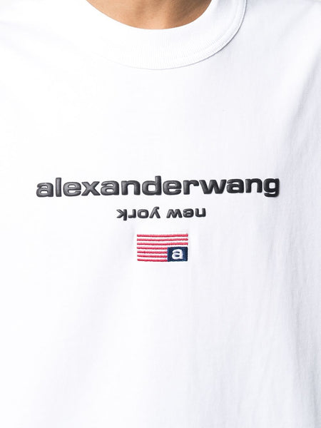 EMBOSSED LOGO USA FLAG T-SHIRT