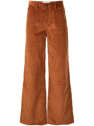 FLARED LEG CORDUROY TAILORED TROUSERS BRO