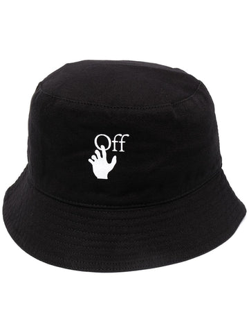 HAND OFF BUCKET HAT BLK WHT