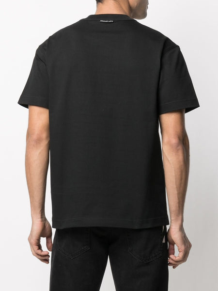 EMBOSSED LOGO KINTED FLAGED T-SHIRT