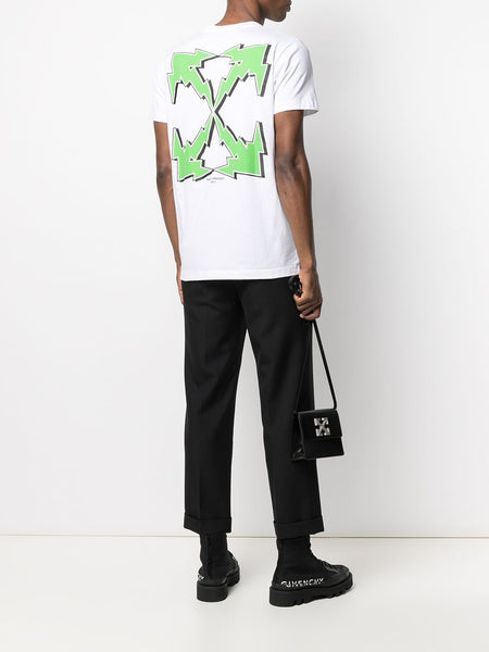 BOLT PRINTED ARROWS S/S SLIM TEE WHT GRN
