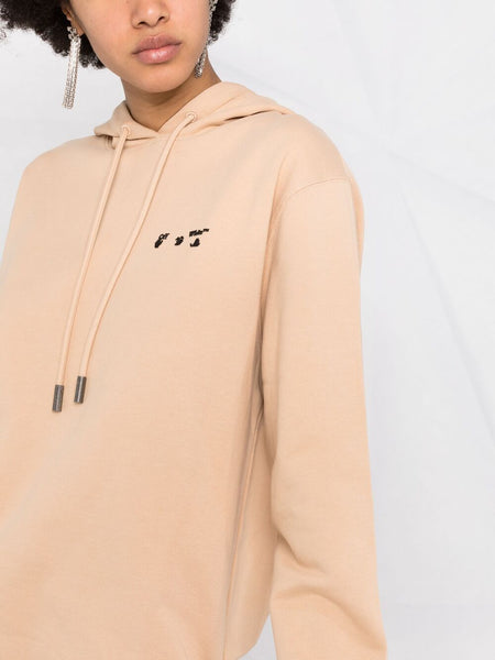 OW EMBROIDERED LOGO HOODIE SND BLK