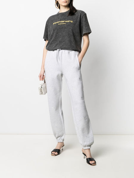 JOGGER WITH ALLOVER EMBROIDERY WANG