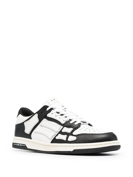 SKEL COLOR BLOCK LOW-TOP SNEAKERS BLK WHT