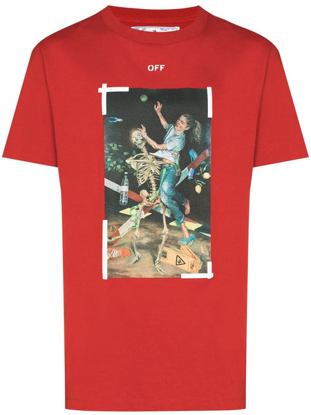 PASCAL PAINTING PRINT S/S SLIM TEE RED BLU