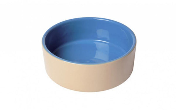 BLUE & BEIGE BOWL