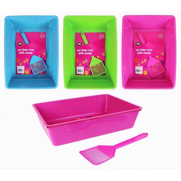 Rectangled litter tray & scoop