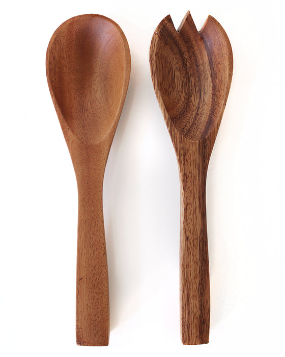 Wood Salad Servers | Acacia Creations