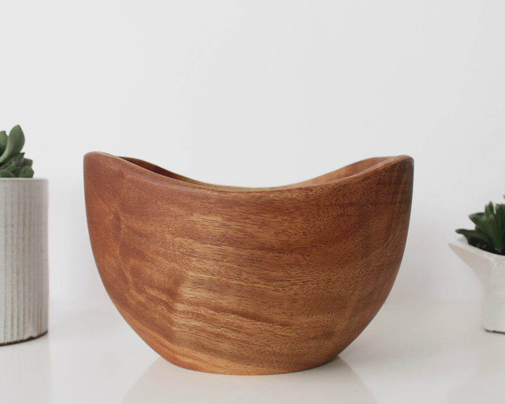 Swoop Wood Salad Bowl | Acacia Creations