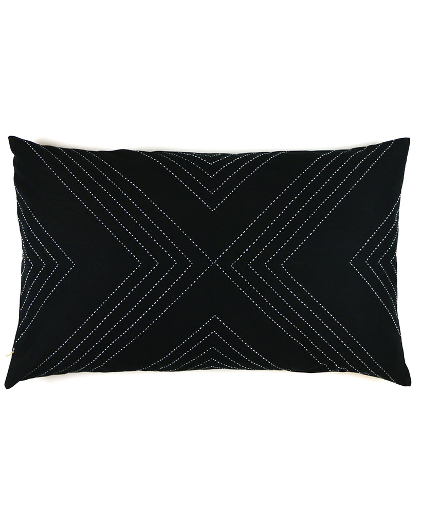 "White Arrow Embroidered 16""x26"" Pillow Cover 