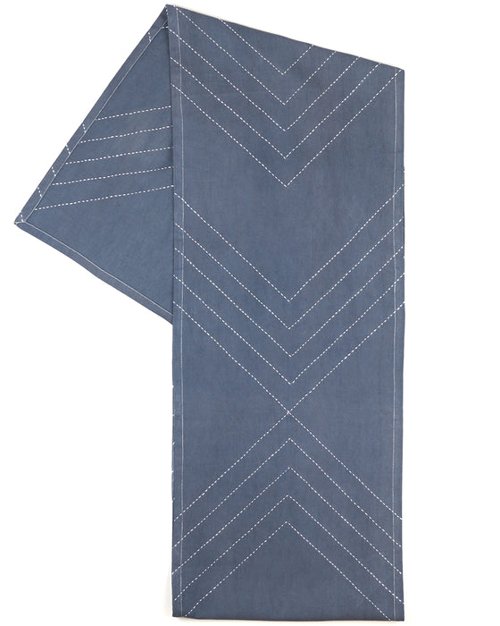 White Arrow Embroidered Table Runner | Anchal