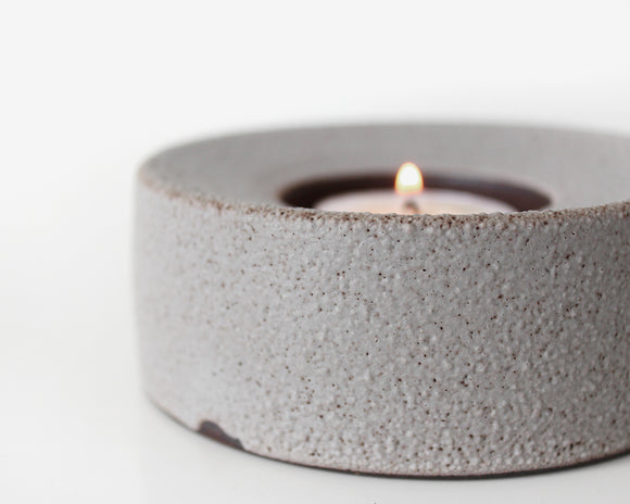 Grey Tea Light Votive Candleholder