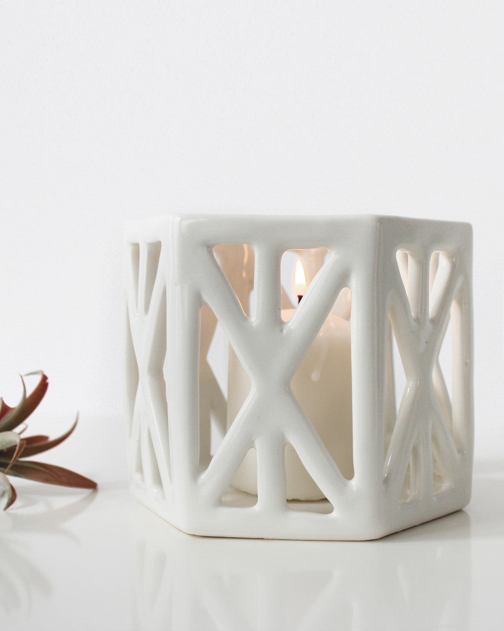 Structured Hexagon Votive | Convivial Production