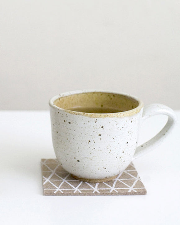 White Triangle Coasters - Cotton & Flax