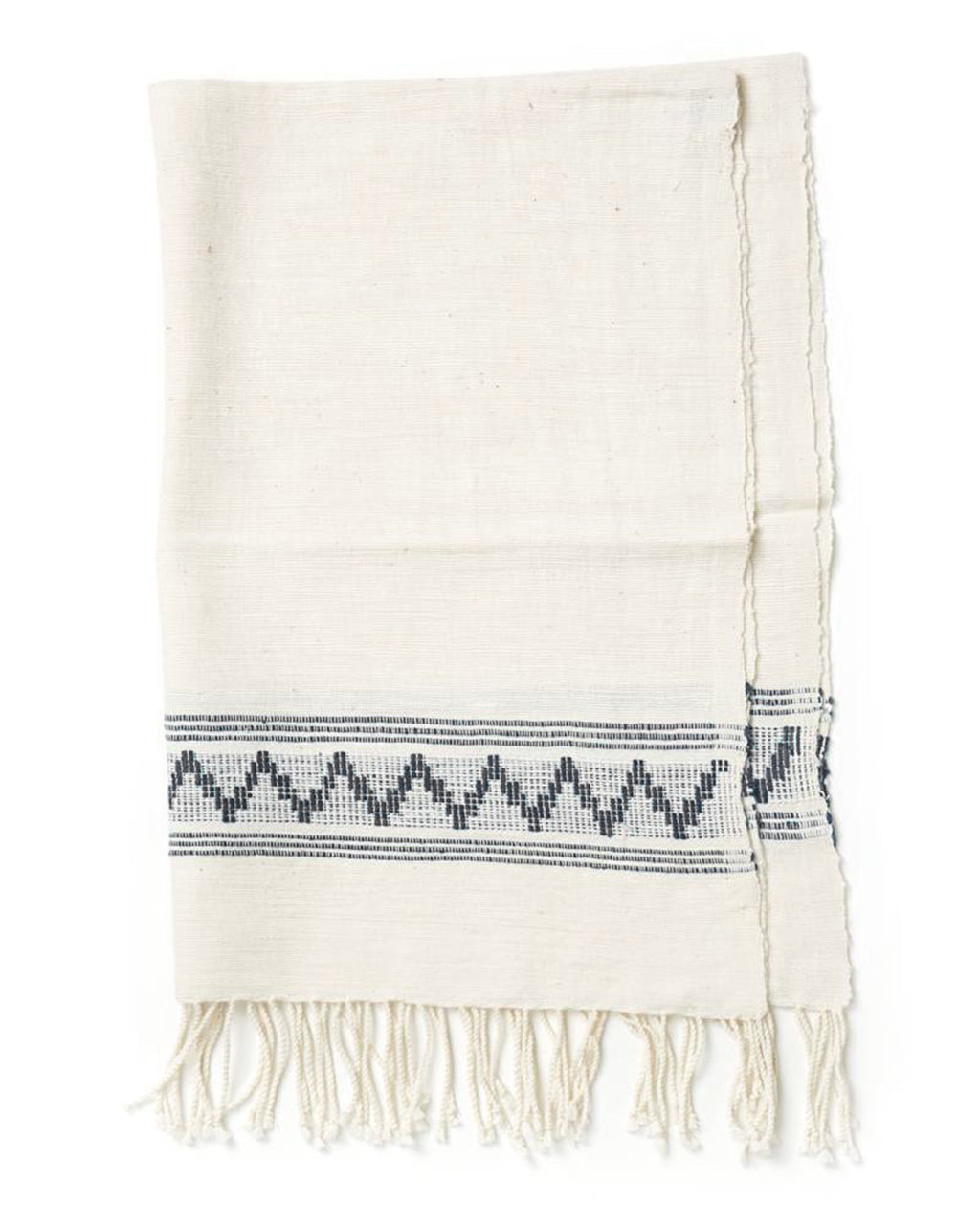 Gray Woven Patterned Hand Towel