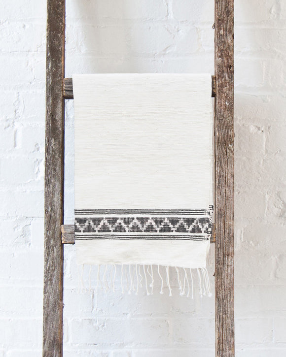 Gray Woven Patterned Hand Towel - Creative Women