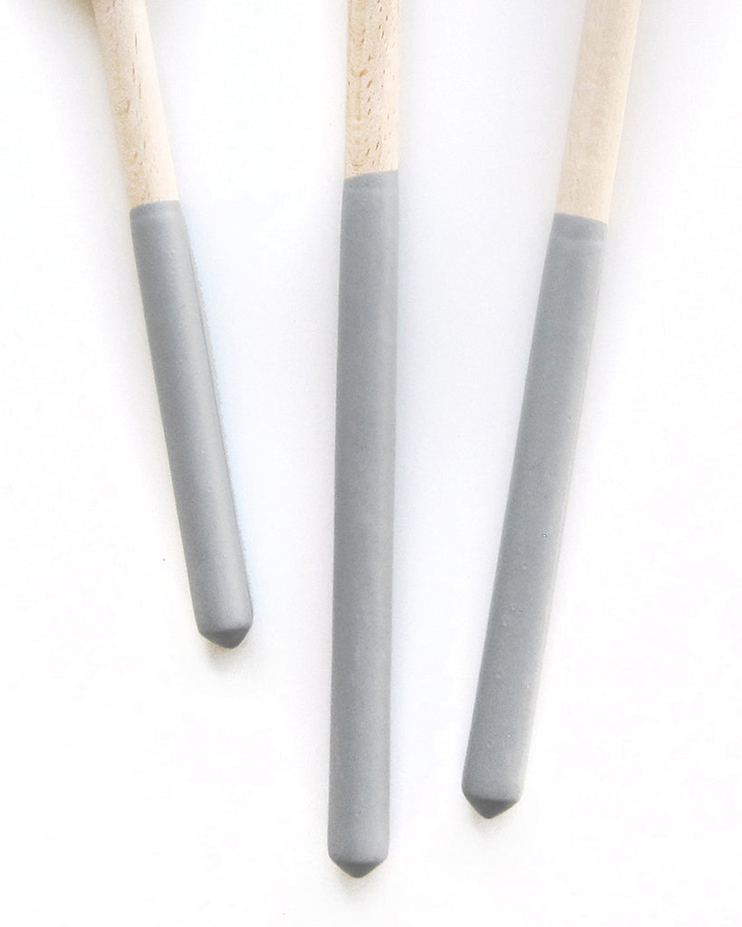 Dipped Gray Wood Spoon Trio | Willful Goods